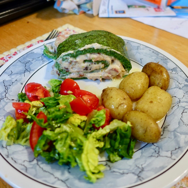 Letitia Spinach Roulade