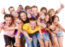 Happy group young people.  Isolated..jpg