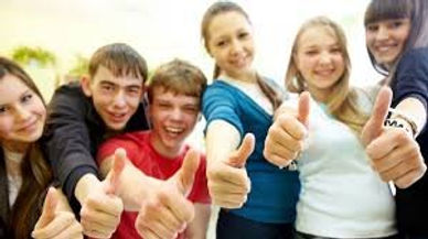 Grp of Children Thumbs Up.JPG