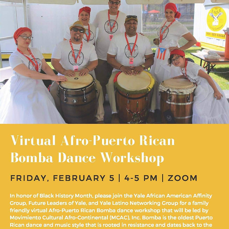 Virtual Afro-Puerto Rican Bomba Dance Workshop