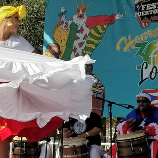 Movimiento Cultural dancing during the Puerto Ricans United festival!