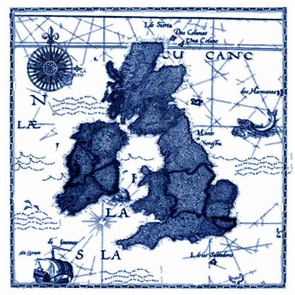 U.K. Map - Watercolour