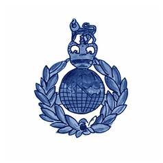 Royal Marines Badge Emblem - Watercolour