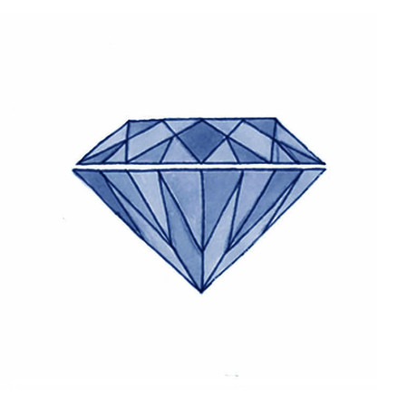 Diamond - Watercolour