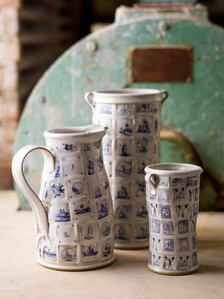 Jug and two vases
