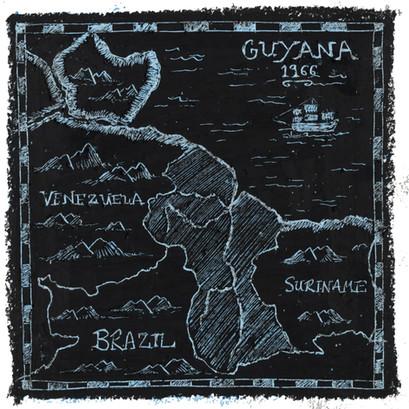 Guyana - Oil pastel and wax crayon