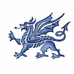 Welsh Dragon - Y Ddraig Goch - The Red Dragon - Watercolour