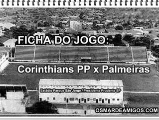 Há 40 anos: Corinthians PP x  Palmeiras