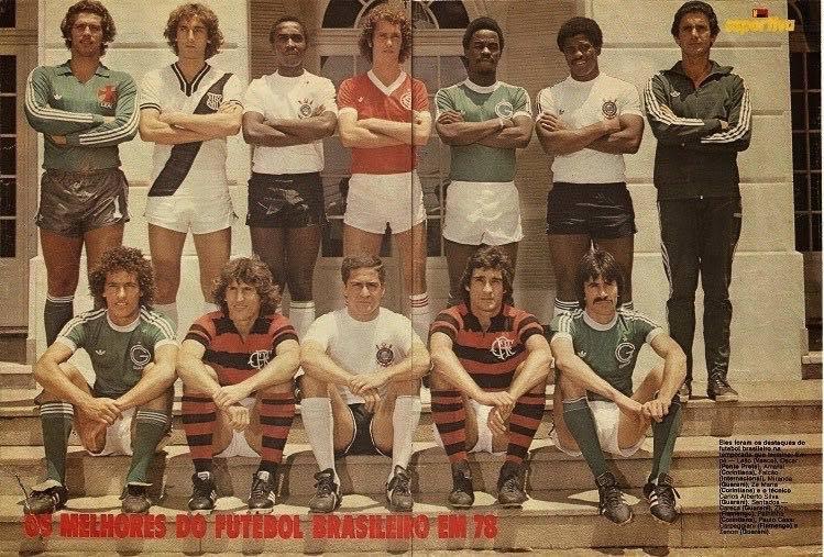 Craques do futebol brasileiro em 1978
