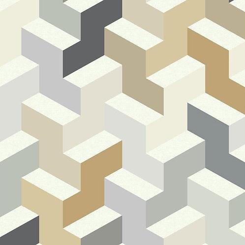 Hexagon Brown/Beige/Mustard
