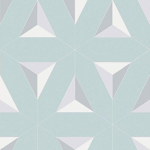 Geometric Triangles Light Blue