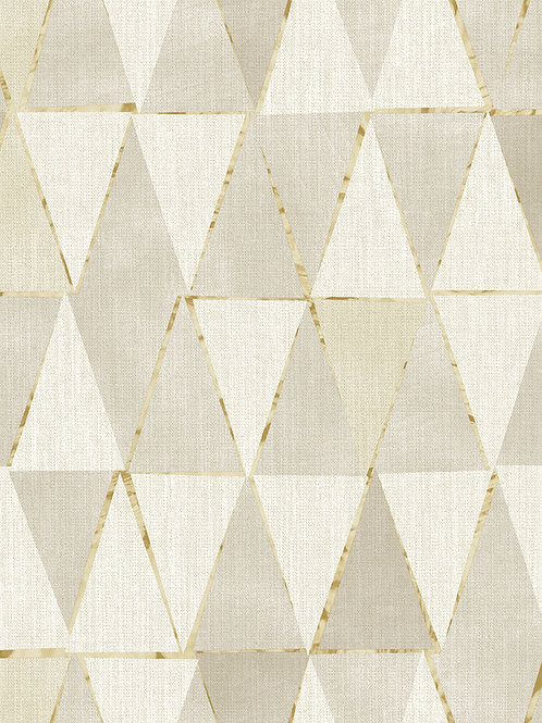 Triangles Geo Beige/Gold