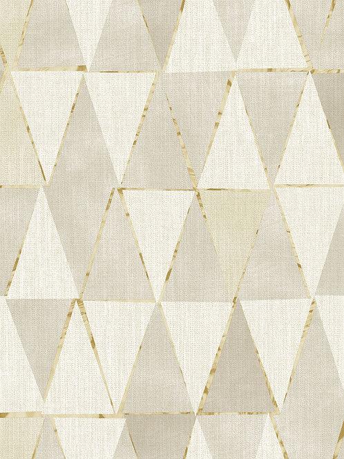 Triangles Geo Beige/Gold