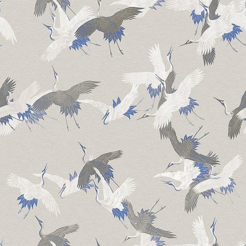 Heron Birds Grey