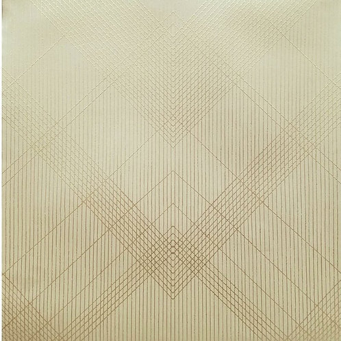 Diamond Striped Beige/Gold