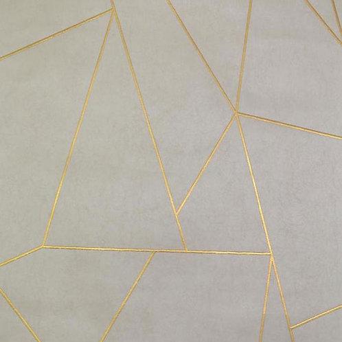 Geometric Beige/Gold