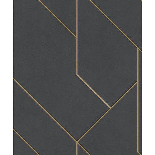 Black/Gold Geometric