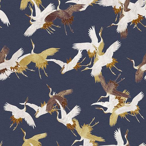 Heron Birds Dark Blue
