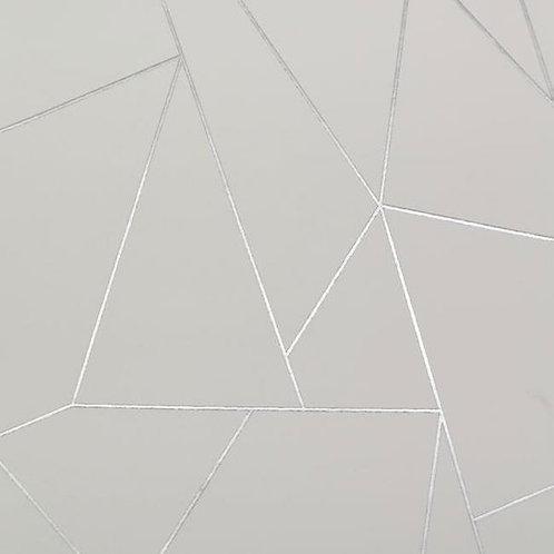 Geometric White/Silver