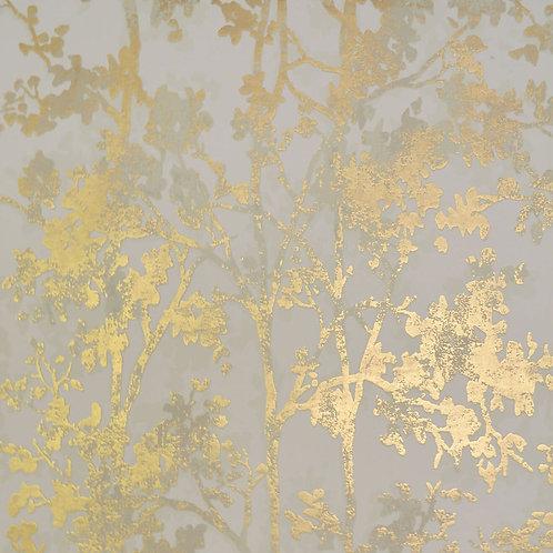 Floral Tree Beige/Gold