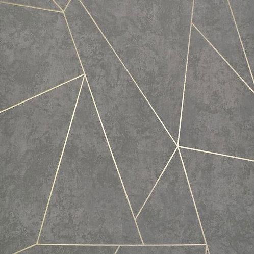 Geometric Concrete Dark Grey/Silver