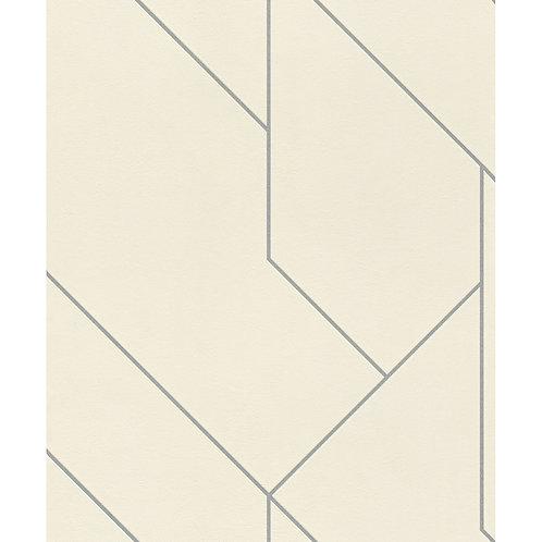 White/Silver Geometric