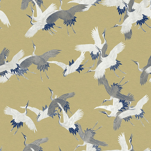Heron Birds Gold