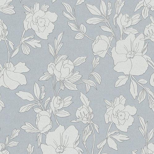 Flowers Light Blue/White/Silver