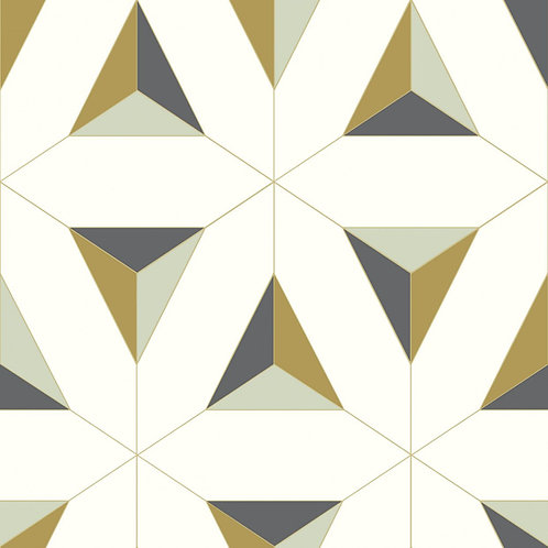 Geometric Triangles White/Mustard