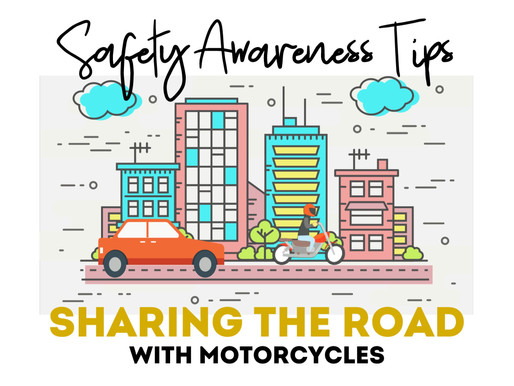 Safety Awareness Tips for Sharing the Road with Motorcycles