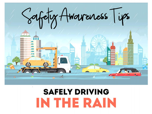 Safety Awareness Tips for Driving Safely in the Rain