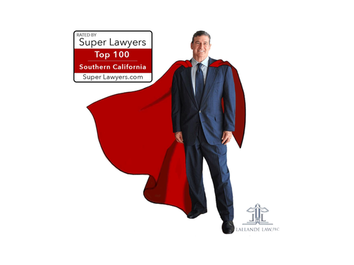 "M. LAWRENCE LALLANDE IS RECOGNIZED AS ""TOP 100"" LAWYERS IN SOUTHERN CALIFORNIA BY SUPER LAWYERS"