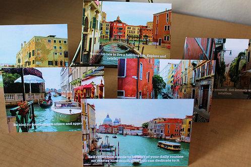 Venice 3 x 5 Blank Card - 6 Cards