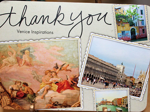 """Venice Inspirations """"Thank You"""" Card"""