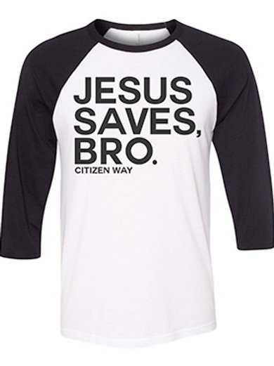 Jesus Saves Baseball Tee