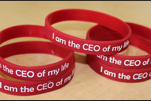 """""""I am the CEO of my life!"""" Unisex Wristband"""