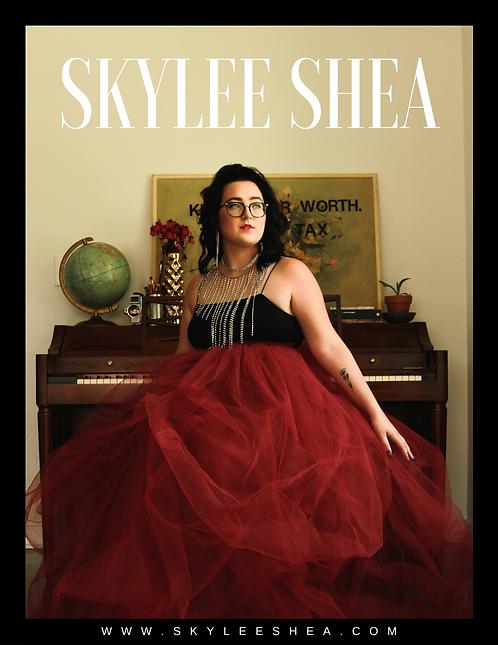 Skylee Shea Signed Promo Poster