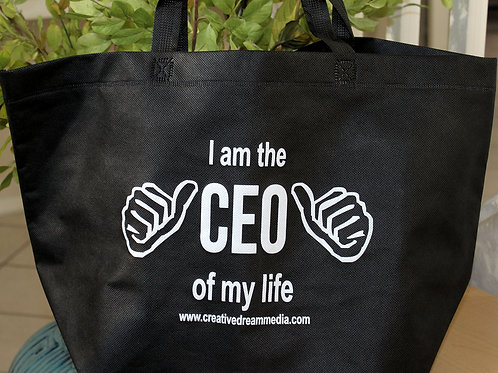 """I am the CEO of my life!"" Tote Bag"