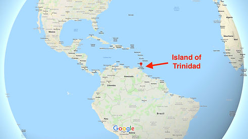 Map indicating Trinidad and Tobago