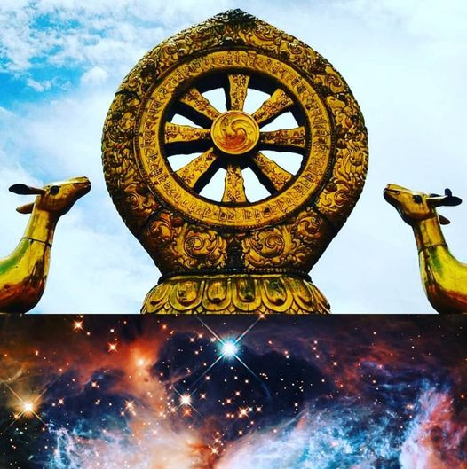 dharmachakra, stella a 8 punte, timone, volontà, liberoarbitrio