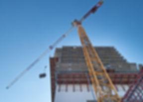 Extensive scaffolding providing platform