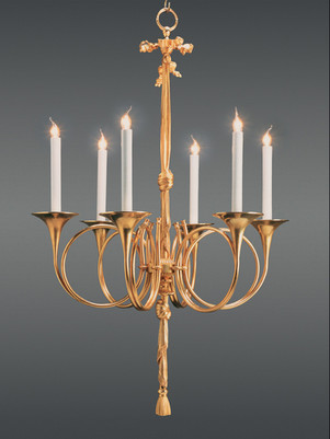 CHANDELIER GOLD PLATED (24 crt)