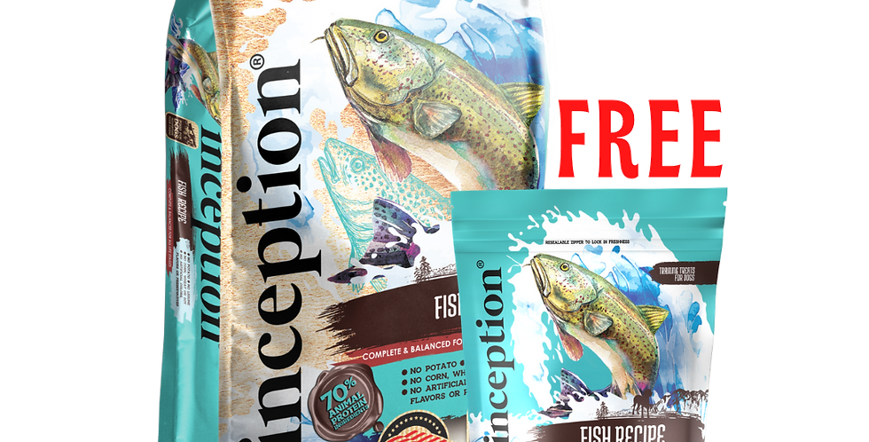 Inception Fish Recipe Dog Food (Dry) 13.5LB/27LB