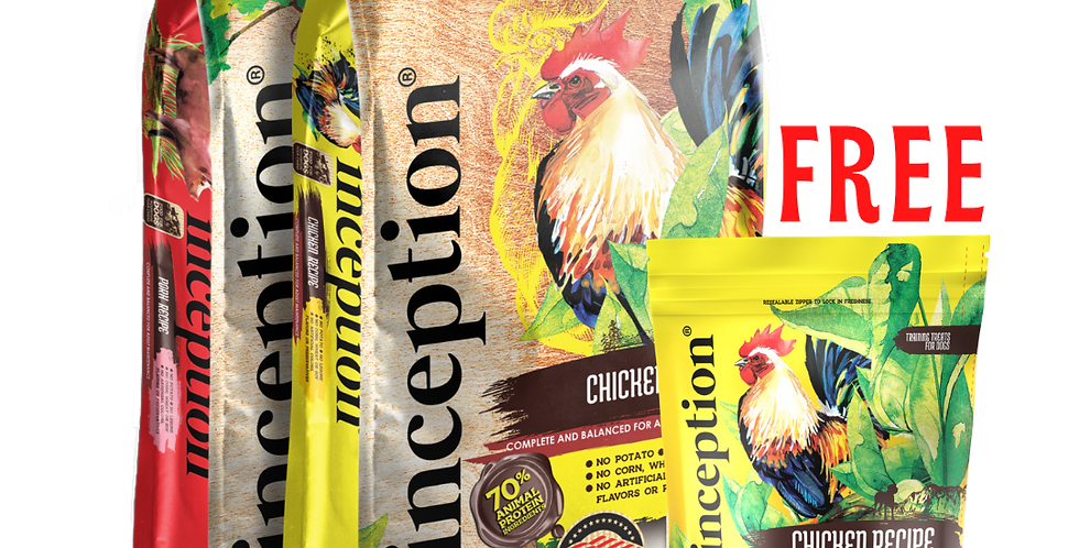 Inception Dry Food 4LB (2 bags)