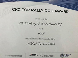 TOP Dog in Rally - Black Russian Terrier Makovey 2018
