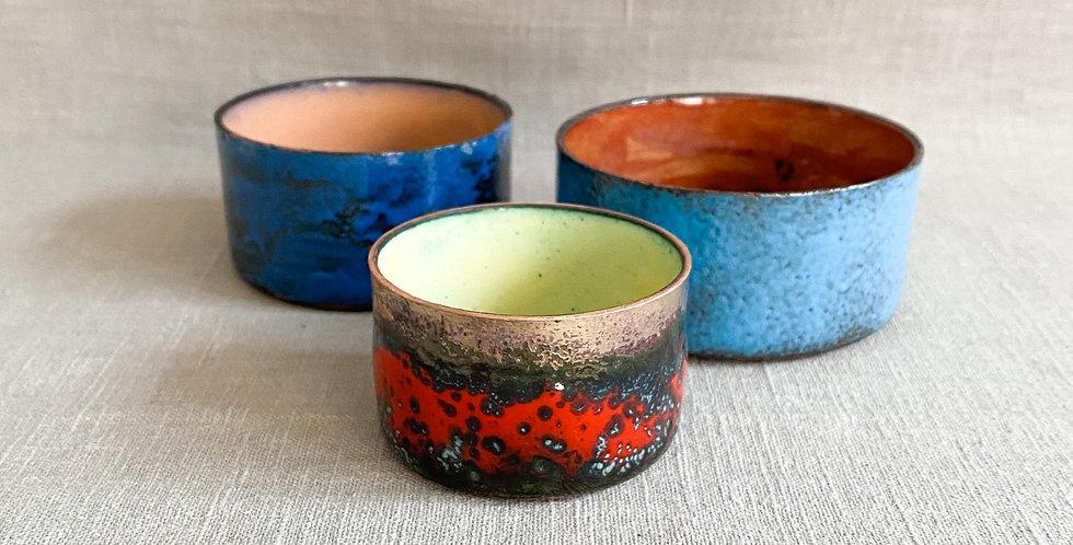 copper enamel pot