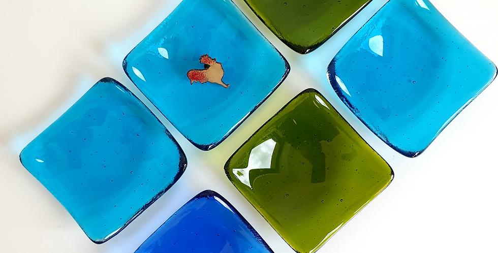 fused glass trinket dish