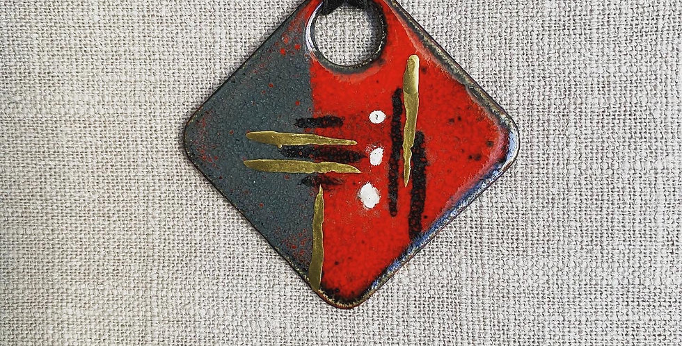 Red Abstract Necklace