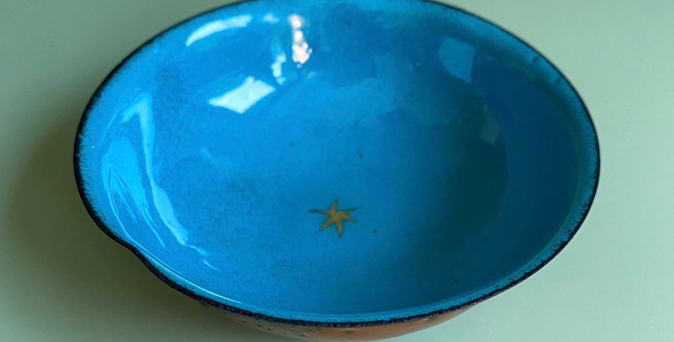Gold Star Teal Bowl