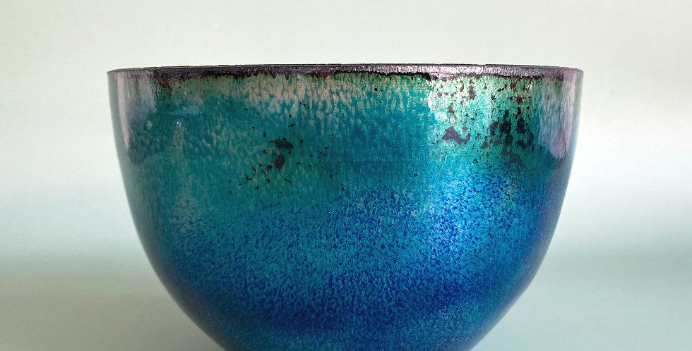 Large  Turquoise Shaving Bowl